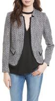 Helene Berman Women's Fringe Trim Tweed Jacket