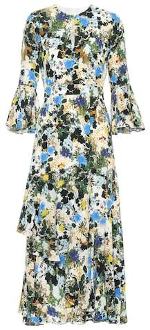 Erdem Floral-printed silk dress