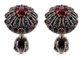 Alexander McQueen Crystal embellished medallion cufflinks