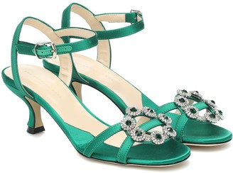 Christopher Kane Embellished satin sandals