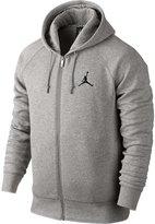 Nike Mens Jordan Jumpman Brushed FZ Hooded Sweatshirt Dark Grey/Black 688995-063