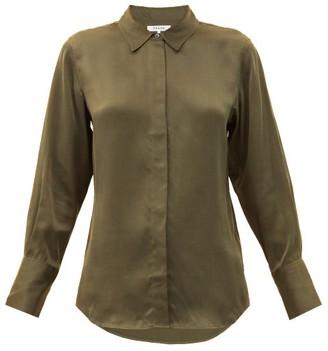Frame Silk Crepe De Chine Shirt - Khaki