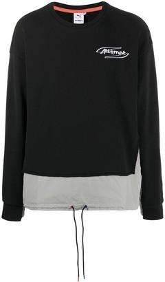 Puma x Attempt logo-embroidered sweatshirt