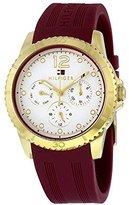 Tommy Hilfiger Multifunction Burgundy Silicone Women's watch #1781581