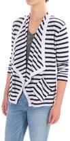 Lilla P Stripe Flame Cardigan Sweater - Pima Cotton-Modal, Open Front, 3/4 Sleeve (For Women)
