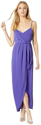 BCBGeneration The Wrap Maxi Dress YQG6242159 (Blueberry) Women's Dress