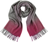 Johnstons of Elgin Cashmere Scarf with Ombre Border - Pink
