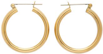 Laura Lombardi Gold Band Hoop Earrings
