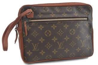 Louis Vuitton \N Brown Silk Small bags, wallets & cases