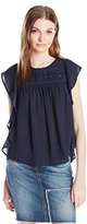 """Jessica Simpson Women's """"Kala"""" Embroidered Top in Total Eclipse"""