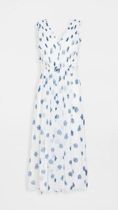 Jason Wu Sleeveless V Neck Ruffle Dress
