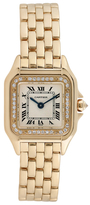 Cartier Vintage Panthere 18K Yellow Gold & 0.30 Total Ct. Diamond Watch, 29mm x 21mm