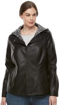 Gallery Plus Size Faux-Leather Jacket