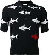 Thom Browne shark slim-fit polo shirt - men - Cotton - 0