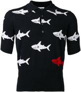 Thom Browne shark slim-fit polo shirt - men - Cotton - 2