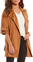 Gianni Bini Tracey Faux Suede Trench Jacket