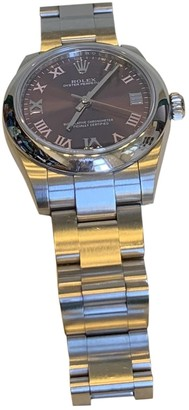 Rolex Oyster Perpetual 31mm Purple Steel Watches