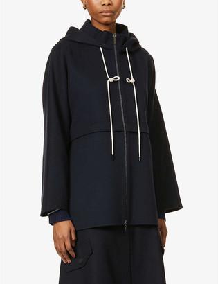 S Max Mara Drawstring-hood relaxed-fit wool jacket