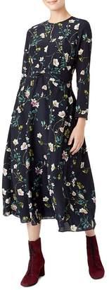 Hobbs London Hellebore Silk Midi Dress