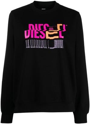 Diesel Logo Print Jumper