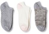 Merona Women's Low-Cut Socks 3-Pack Texture Heather Gray One Size
