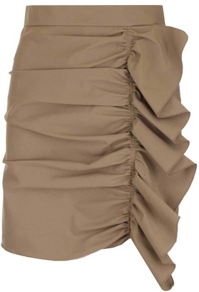 RED Valentino Ruffle Detail Mini Skirt