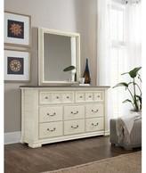 Hooker Furniture Sturbridge 8 Drawer Double Dresser with Mirror
