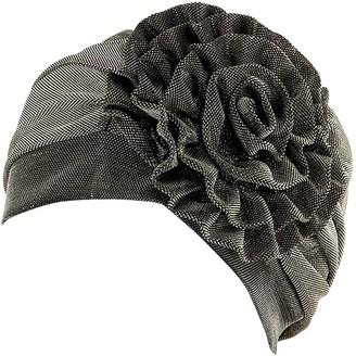 SSMENG Womens Muslim Hijab Cap India Chemo Cap Beanie Turban Headwear Head Wrap Cap(Khaki Free Size)