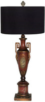 One Kings Lane Vintage Early 20th Century Neoclassical Lamp - I Dream in Vintage - brass/gold/red/black/green