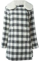 See by Chloe checked short coat - women - Cotton/Acrylic/Polyamide/Polyacrylic - 40
