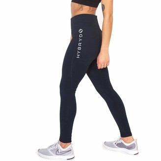 Hybryd Fit Womens Navy Fitness Legging For Crossfit Training (M/12)