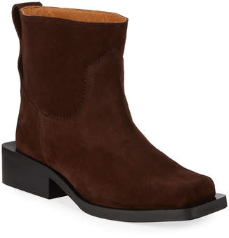 Ganni Low MC Suede Booties