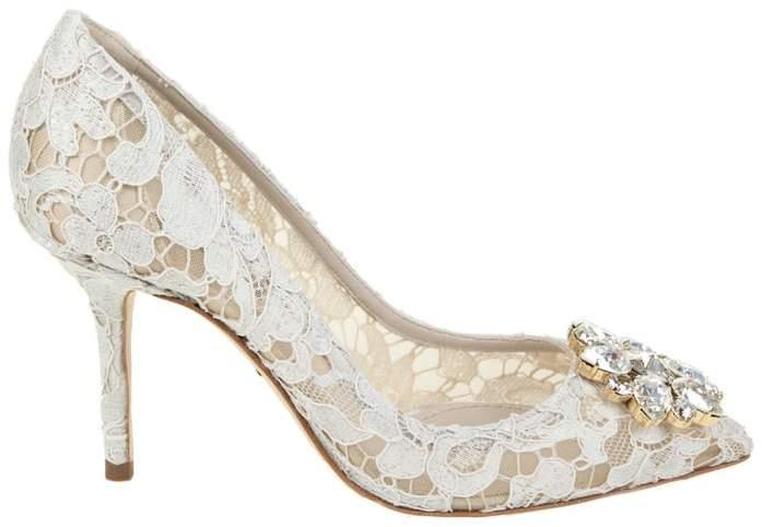 Dolce & Gabbana Décolleté Taormina Lace With Crystals