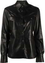 Tom Ford chest pockets leather shirt