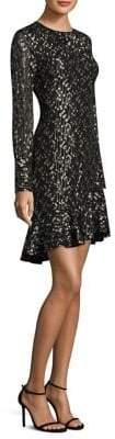 Derek Lam 10 Crosby Metallic Flounce Dress