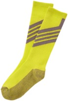 Crazy 8 Neon Chevron Active Socks