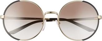 Prada 57mm Gradient Round Sunglasses