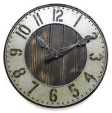 Southern Enterprises Rustic Punched Metal Wall Clock