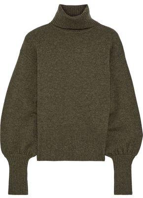 Marissa Webb Sloane Cropped Wool, Yak And Cashmere-blend Turtleneck Sweater