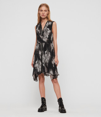 AllSaints Jayda Feathers Dress