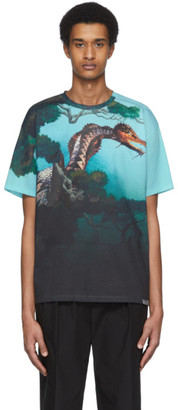 Valentino Multicolor Dragon Garden T-Shirt