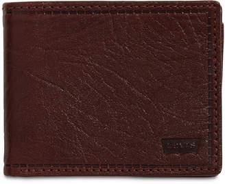 Levi's Men Rfid Extra-Capacity Leather Wallet