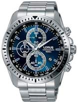 Lorus Men's 45mm Steel Bracelet & Case Quartz Dial Analog Watch Rm349dx9