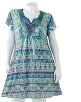 Apt. 9 floral embellished sublimation shift dress - women's plus