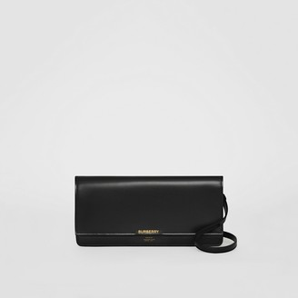 Burberry Horseferry Print Leather Wallet with Detachable Strap