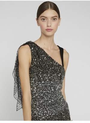 Alice + Olivia Bliss Asymmetrical Sequin Top