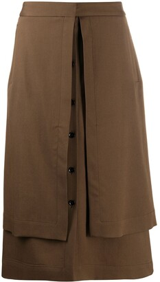 Lemaire A-line button up skirt