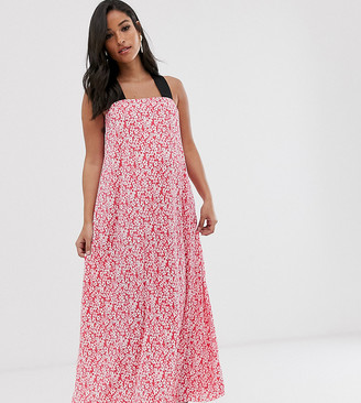 Asos DESIGN Maternity ditsy floral plisse maxi dress