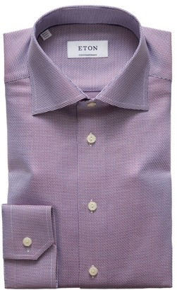 Eton Contemporary-Fit Textured Solid Dress Shirt