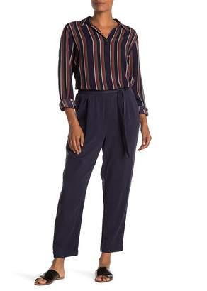 Velvet by Graham & Spencer Jamila Tie Waist Solid Twill Pants